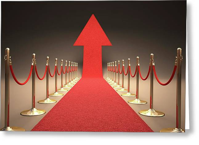 Arrow And Red Carpet Greeting Card by Ktsdesign