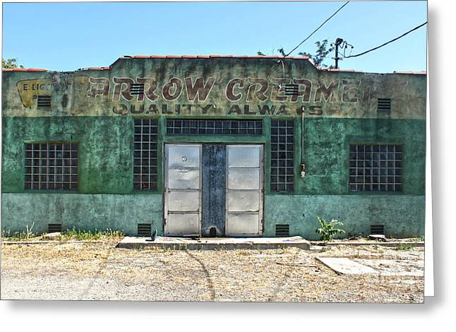 Arrow Creamery - Chino Ca Greeting Card by Gregory Dyer