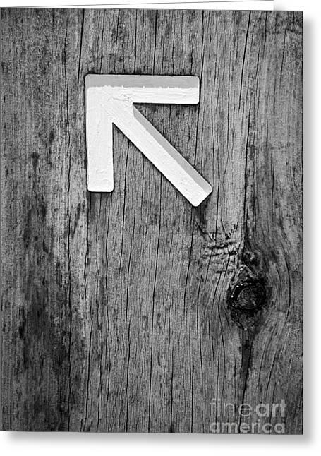Guidepost greeting cards fine art america arrow signs black and white greeting card m4hsunfo