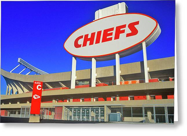 Arrowhead Stadium, Home Of The Kansas Greeting Card