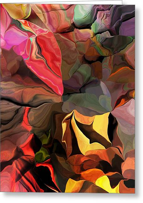 Greeting Card featuring the digital art Arroyo  by David Lane
