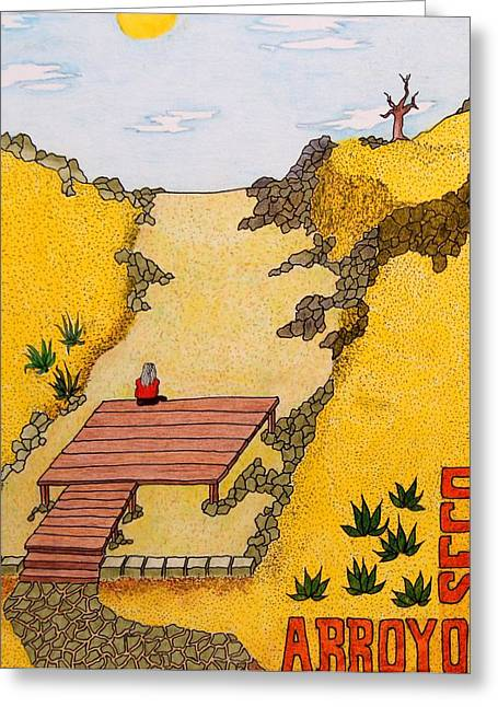 Arroyo Seco Greeting Card
