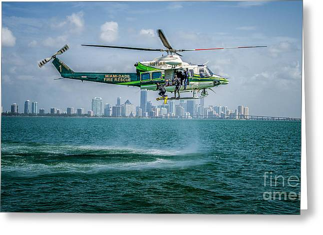 Ars And Miami Greeting Card by Scott Mullin