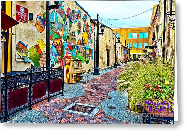 Art Alley Greeting Card by Keith Ducker