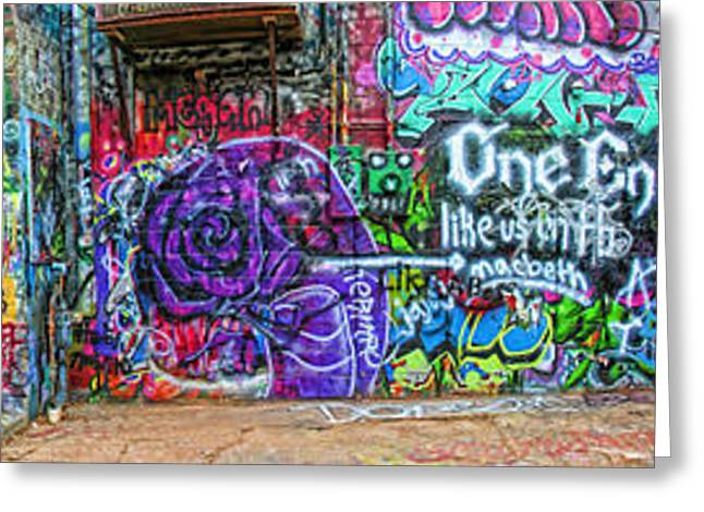 Art Alley Panorama Greeting Card