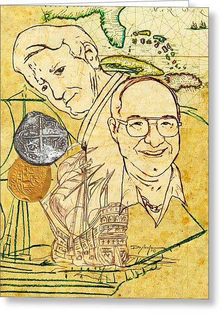 Art And Mel The Treasure Hunters Greeting Card by William Depaula