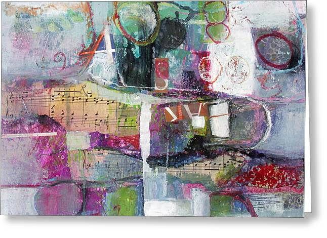 Art And Music Greeting Card by Michelle Abrams