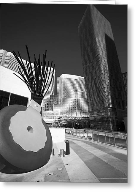 Art And The Las Vegas City Center  Greeting Card by Susan Stone
