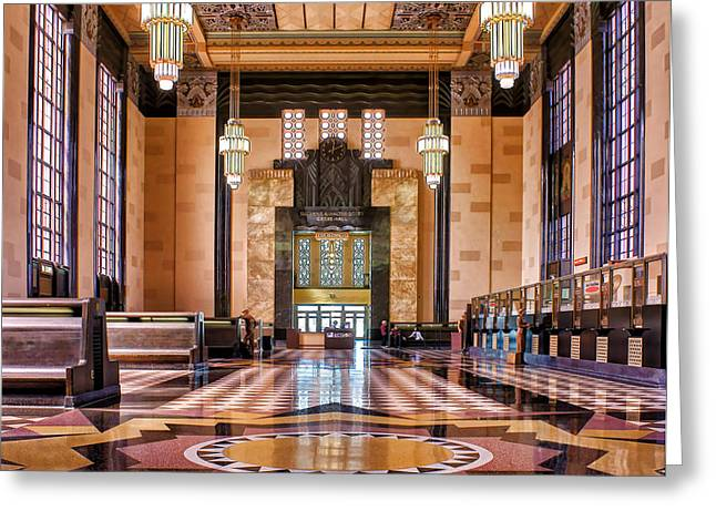 Art Deco Great Hall #1 Greeting Card by Nikolyn McDonald