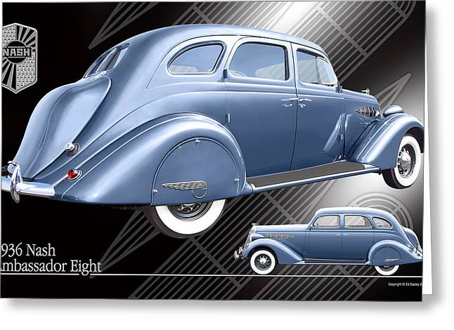 Greeting Card featuring the photograph Art Deco Nash by Ed Dooley