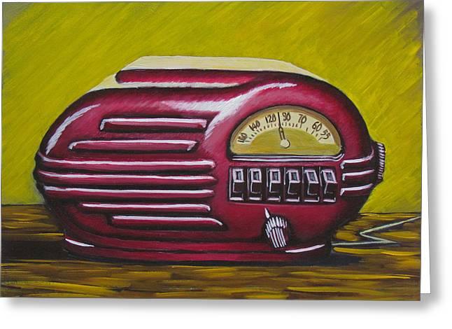 Art Deco Radio Greeting Card