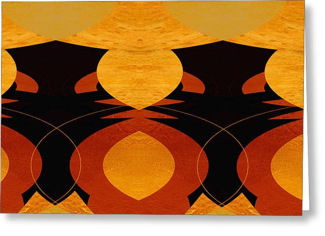 Art Deco Square II Greeting Card by Ann Powell