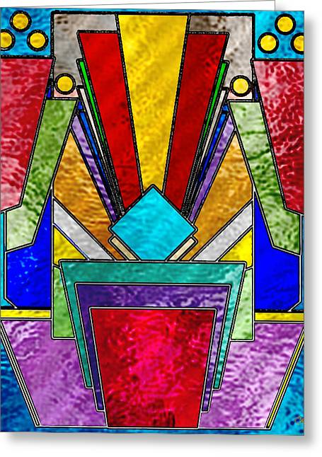 Art Deco - Stained Glass 6 Greeting Card