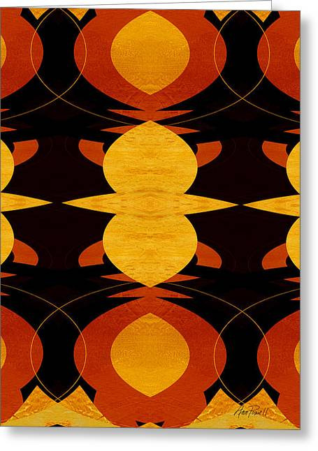 Art Deco Two - Abstract Art Greeting Card by Ann Powell
