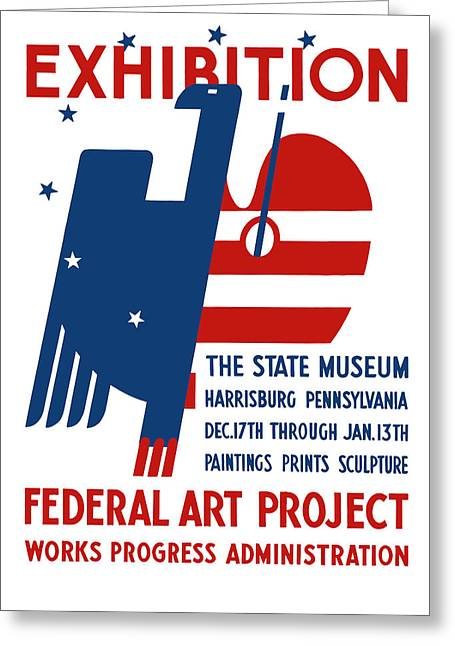 Art Exhibition The State Museum Harrisburg Pennsylvania Greeting Card