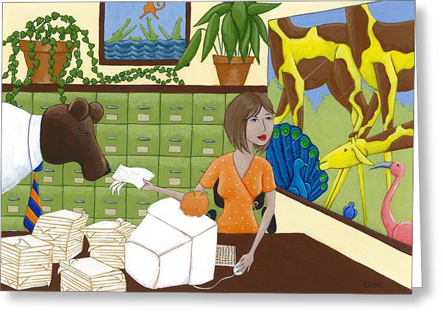 Art For The Office Greeting Card by Christy Beckwith