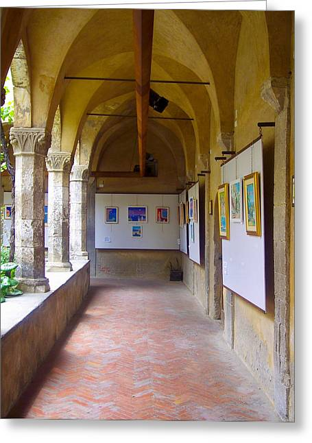 Art Gallery In A Monastery Greeting Card