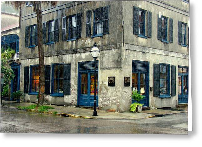 Greeting Card featuring the photograph Art Gallery In The Rain by Rodney Lee Williams