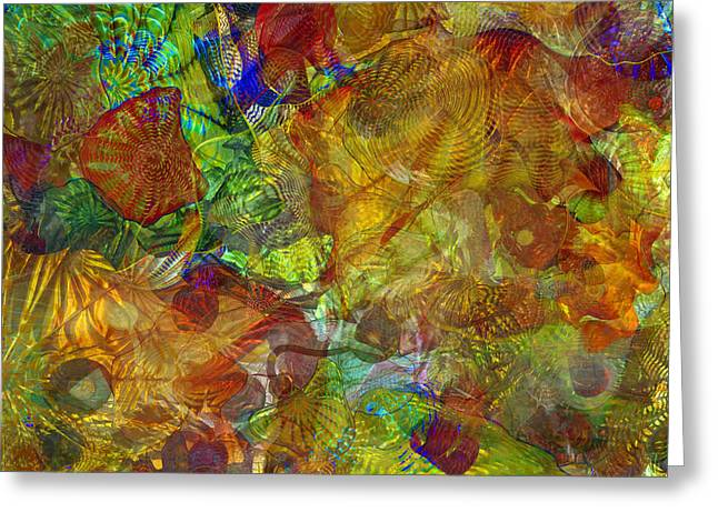 Art Glass Overlay Greeting Card