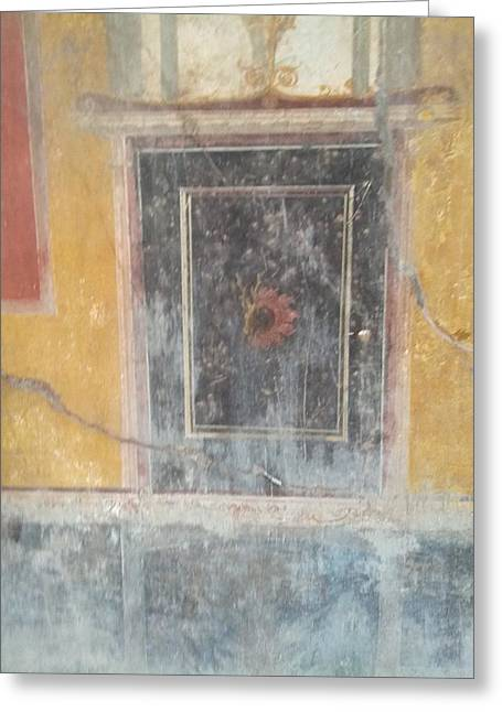 Art In Pompeii Home Greeting Card by Shesh Tantry