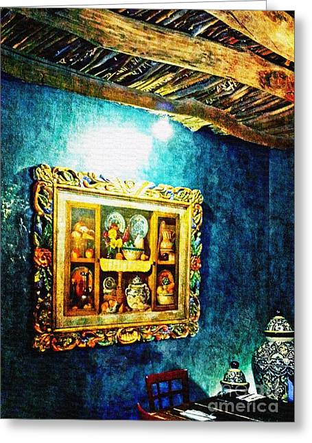 Art In The Blue Room Greeting Card by Barbara Chichester
