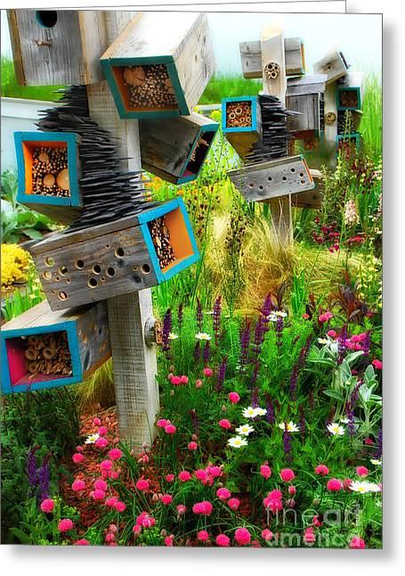 Art In The Garden Greeting Card by Mike Nellums