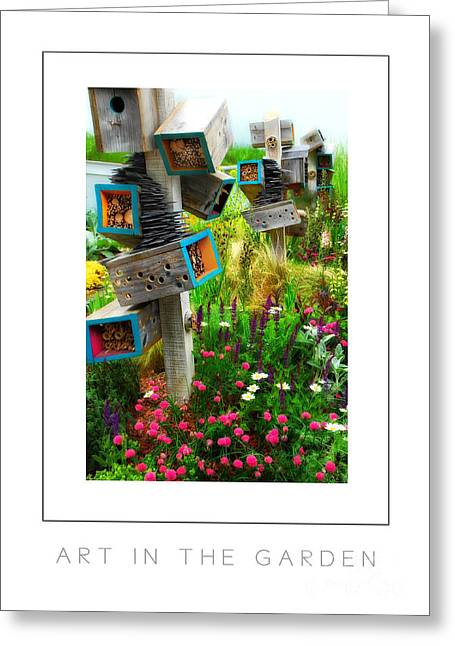 Art In The Garden Poster Greeting Card by Mike Nellums