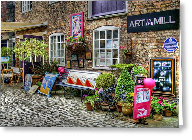 Art In The Mill Greeting Card by Doc Braham