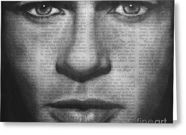 Art In The News 32- Brad Pitt Greeting Card
