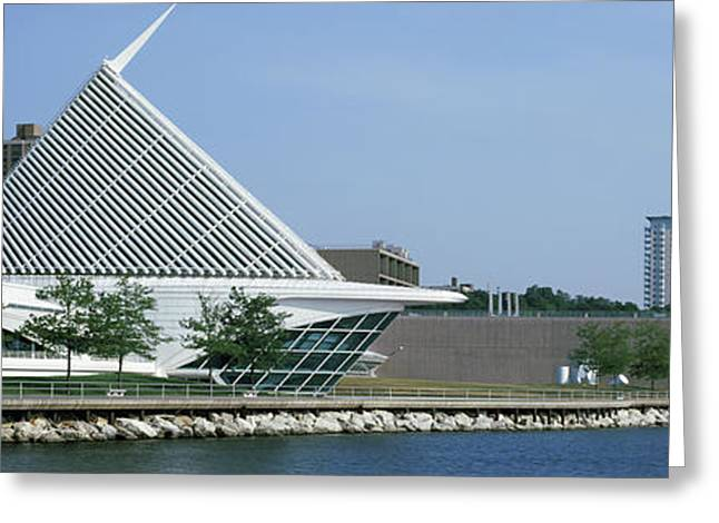 Art Museum At The Waterfront, Milwaukee Greeting Card by Panoramic Images