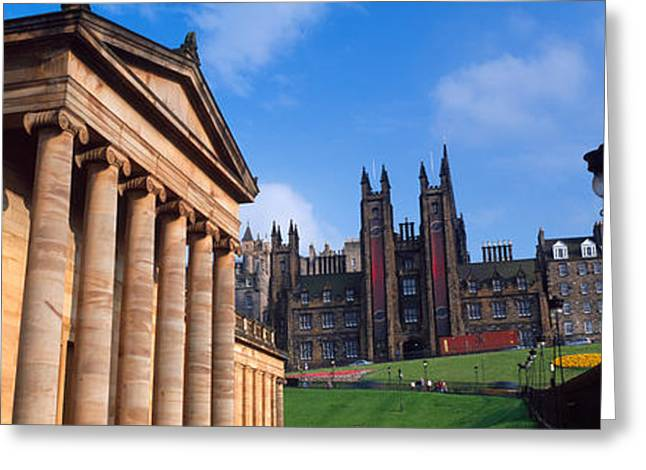 Art Museum With Free Church Of Scotland Greeting Card by Panoramic Images