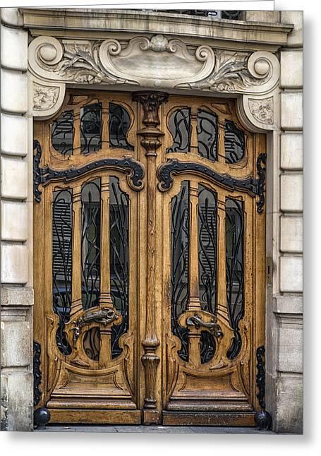 Art Nouveau Door Greeting Card