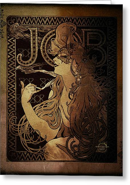Art Nouveau Job - Masquerade Greeting Card