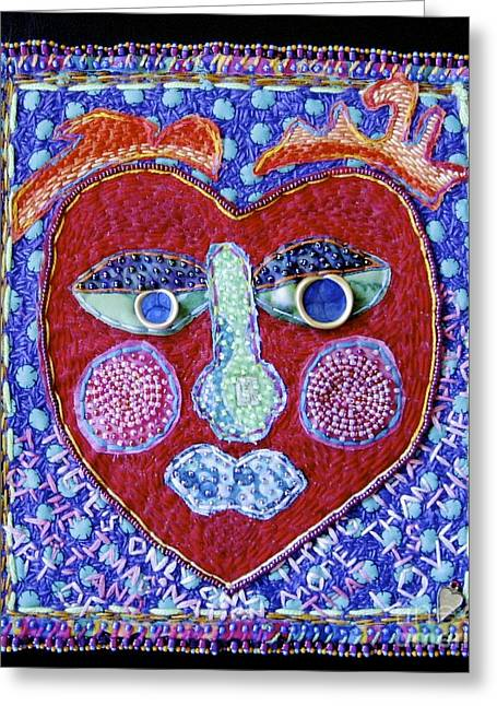 Art Of Love Greeting Card by Susan Sorrell