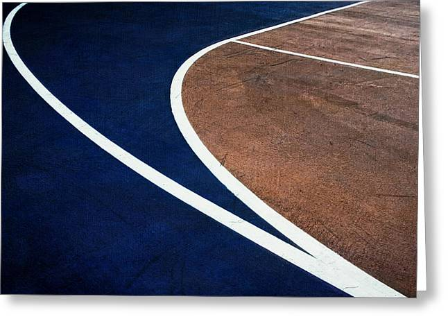 Art On The Basketball Court  11 Greeting Card