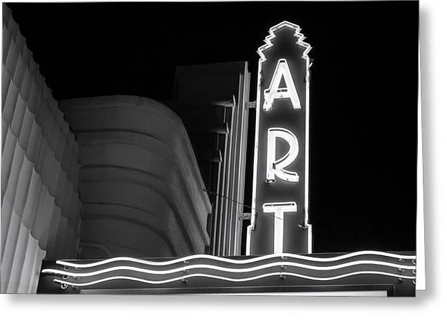 Art Theatre Long Beach Denise Dube Greeting Card