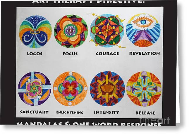 Art Therapy Directive Mandala Greeting Card
