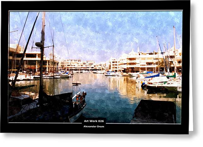 Art Work 026 Yacht Promenade Greeting Card
