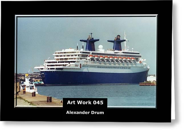 Art Work 045 Passenger Ship Greeting Card by Alexander Drum