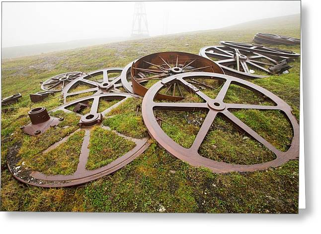 Artefacts At An Abandoned Coal Mine Greeting Card by Ashley Cooper