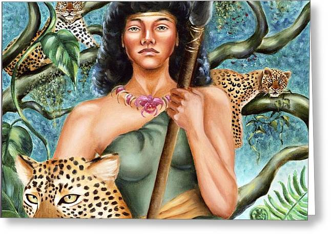Artemis Greeting Card by Karin  Leonard