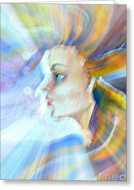 Greeting Card featuring the painting Artemis by Leanne Seymour