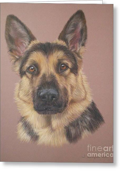 Arthur - German Shepherd Greeting Card by Joanne Simpson