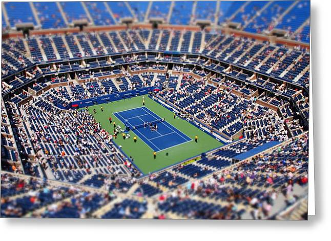 Arthur Ashe Stadium From High Angle Greeting Card