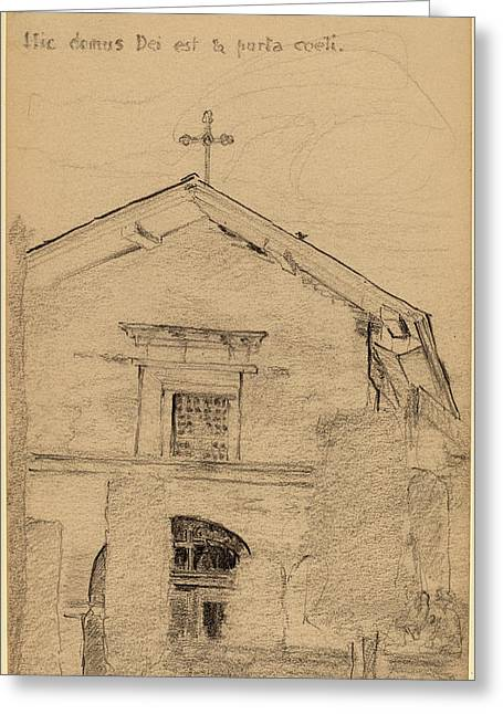 Arthur B. Davies, Mission Dolores, San Francisco Greeting Card
