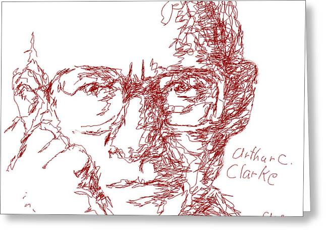 Arthur C. Clark Greeting Card