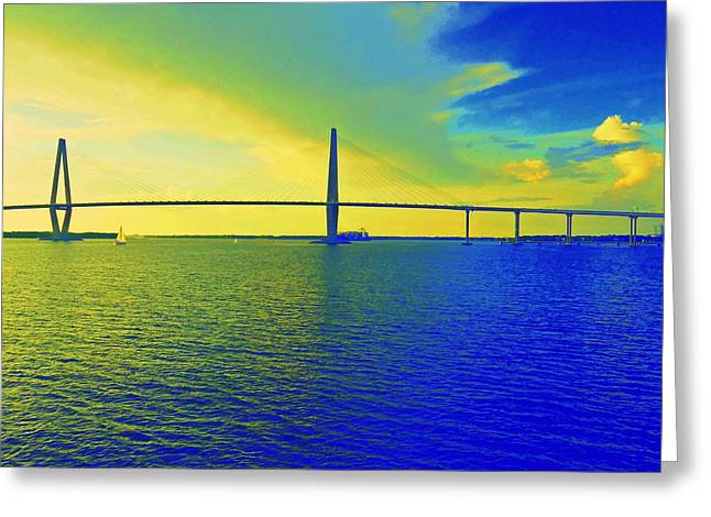 Arthur Ravenel Bridge 19 Greeting Card