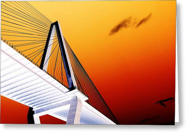 Arthur Ravenel Bridge 25 Greeting Card by Ron Kandt