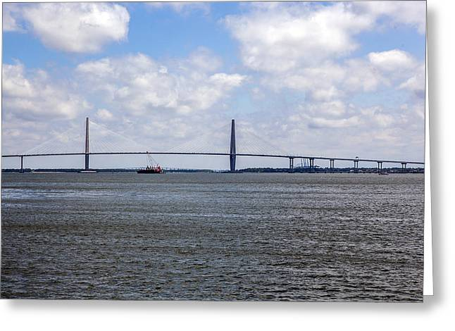 Greeting Card featuring the photograph Arthur Ravenel Bridge by Sennie Pierson