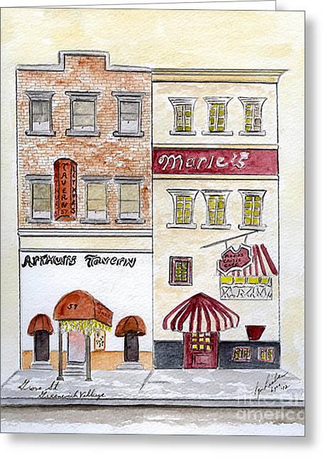 Arthur's Tavern - Greenwich Village Greeting Card